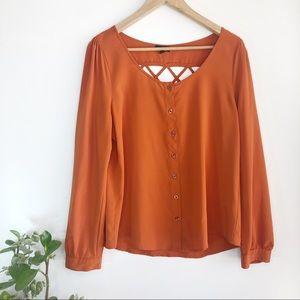 EDGE• rust orange top